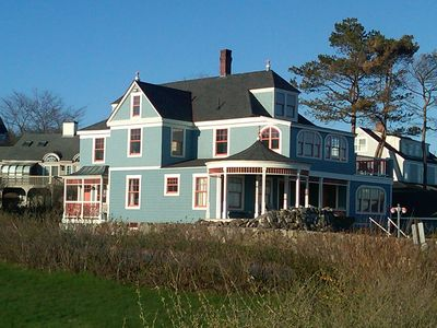 Kennebunk Beach house rental - West side of the house in the afternoon sun