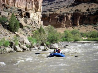 Bluff house photo - San Juan River: San Juan River trips launch from Bluff.
