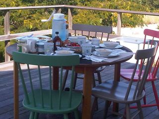Peconic house photo - Enjoy breakfast on the deck