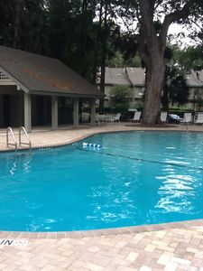 Take a dip in the recently renovated community pool.