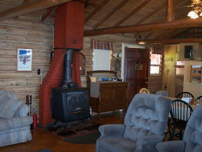Wood Stove in Living Room / Dining Room - Wood Stove in Living Room / Dining Room