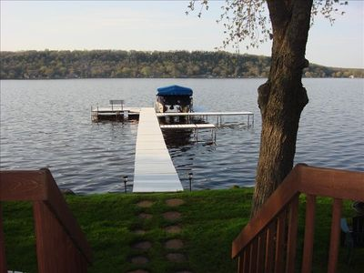 Swim, Fish, View Sunsets from Private Pier. Guests/rent our 22' Pontoon Boat.