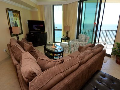 great view of the gulf from the living room!