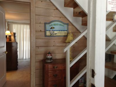 Foyer Entrance.  Washer and dryer located here and also lower level bedroom.