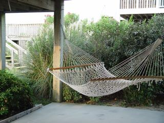 Holden Beach house photo - Hammock next to enclosed outdoor shower