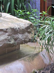 Tranquil fountain in inner courtyard