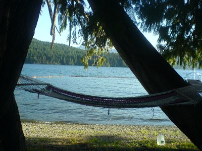 There's always a line-up for the hammock- a great place to relax with a book