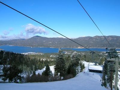 Groomed runs with exceptional views to the lake and your Chalet by the lift.