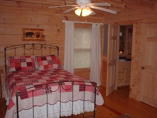 Blue Ridge cabin photo - Downstairs Bedroom - Master is on Upper Level