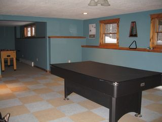 Jay Peak house photo - Pool table/rec area - apres ski at home!