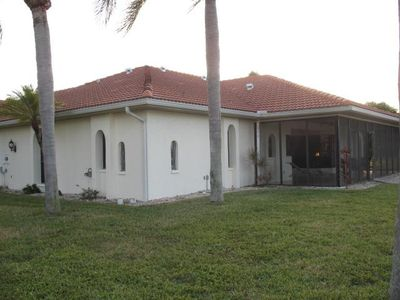 Cape Coral house rental - Rear of house and Lanai