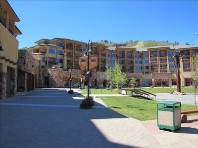 Canyons Resort Plaza From Just Below Unit