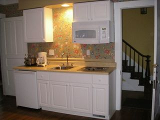 Frankfort lodge photo - Betsie's compact kitchen serves the vacationer's simple needs.
