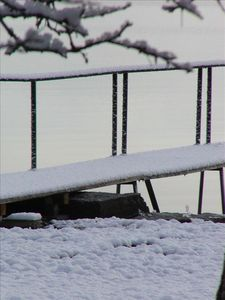 Dock in snow