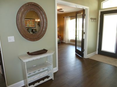 Entry Foyer, floor is not hardwood, but tile!