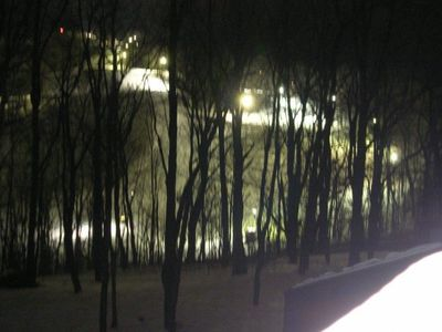 Slope View at Night from Master Bedroom.
