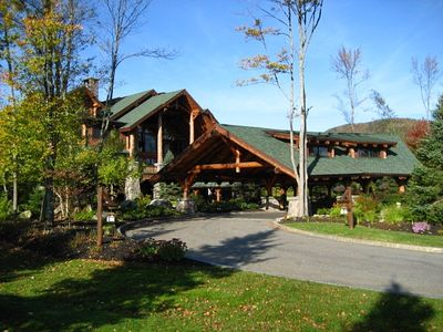 Lake Placid condo rental - Front Of Lodge