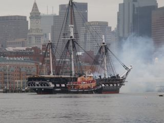 Boston yacht photo - USS Constitution Turnaround - Old Ironsides is just a short walk away.