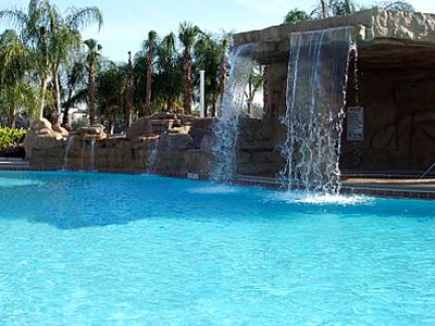 Resort Pool Water Fall