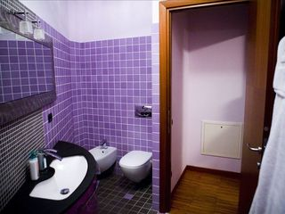 Lezzeno apartment photo - Purple master bath ... an oasis of slate and violet