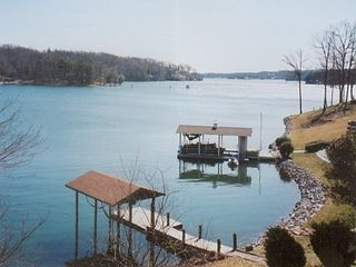 Moneta house photo - View of Lake from Rear Deck