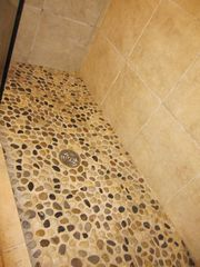 Crested Butte cottage photo - Bathroom 1 - River Rock Pebble Shower Floor