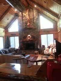 Pinetop cabin rental - Great Room