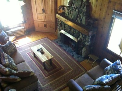 2 bedroom/loft Cabin Living Room (from loft)