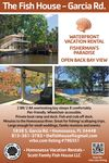 The Fish House - Water Front - Fisherman's Retreat - Open Back Bay View