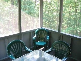 Bushkill house photo - Relax in the screened pouch with ceiling fan!
