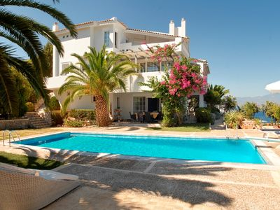 Amazing Sea Front Luxury Villa in Peloponnese with Large Private Pool