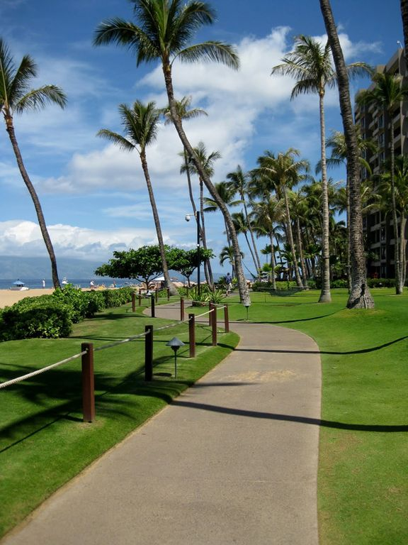 Stroll the famous Kaanapali Beachwalk, right outside your door!