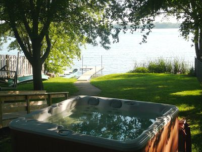 Prior Lake house rental - Hot tub with great view