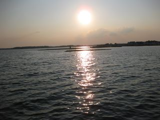 North Ocean City townhome photo - Sun setting over the water--imagine the natural beauty /pictures you can capture
