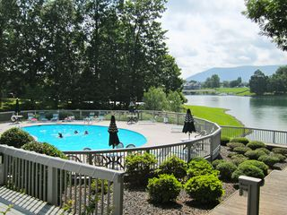 Moneta condo photo - Pool at conference center with great water and mountain views
