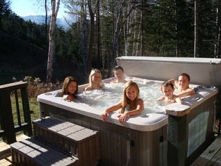Lake Placid cabin photo - Hot Tub with a view