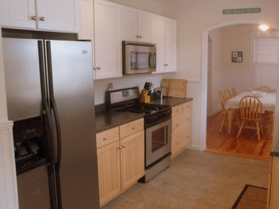 Boardwalk house rental - Galley Kitchen and Dining Area