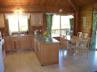 Pahoa house photo - Kitchen with dining table.
