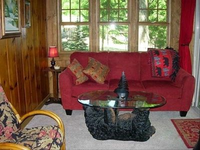 Living Area - Knotty Pine Cabin