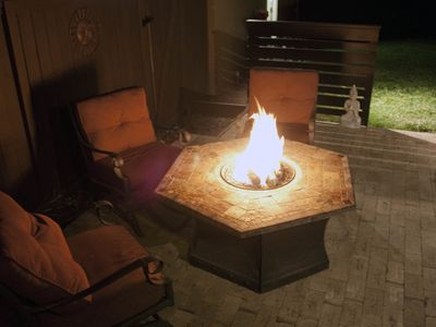 Relax with friends and family by the fire at the end of your day!