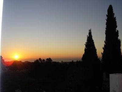 Mijas villa rental - Morning View from Terrace