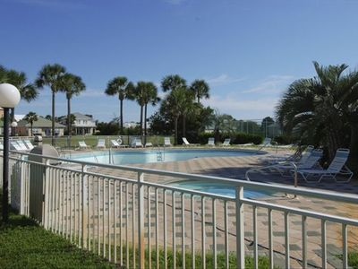 Maravilla has two pools (one is heated!) plus tennis courts and a workout room!