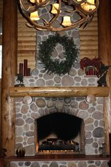 Sundance cabin photo - Great Room's Cozy Gas Fireplace