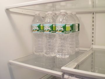 Bottled water is available (additional cost).