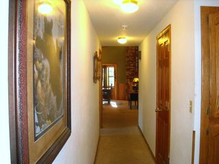 Big Bear Lake house photo - Hallway to 3 bedrooms - 2 baths - accommodations for 8