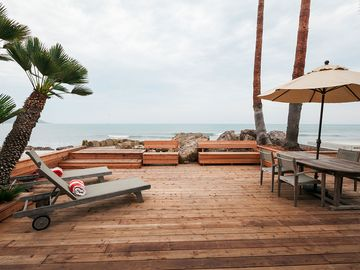 La Conchita house rental - Expansive Private Oceanfront Deck