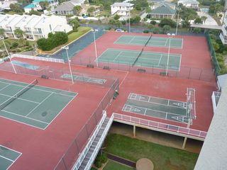 Mainsail Resort condo photo - Tennis courts above parking deck