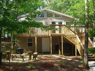 Hartwell Lake house rental - Front Vew of the House