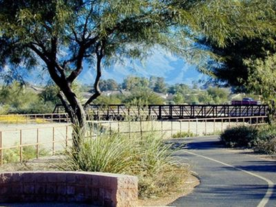 Exercise along the Rillito River Trail