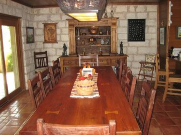 Dining Room of the main house; kitchen with center island & 2nd sink is at right